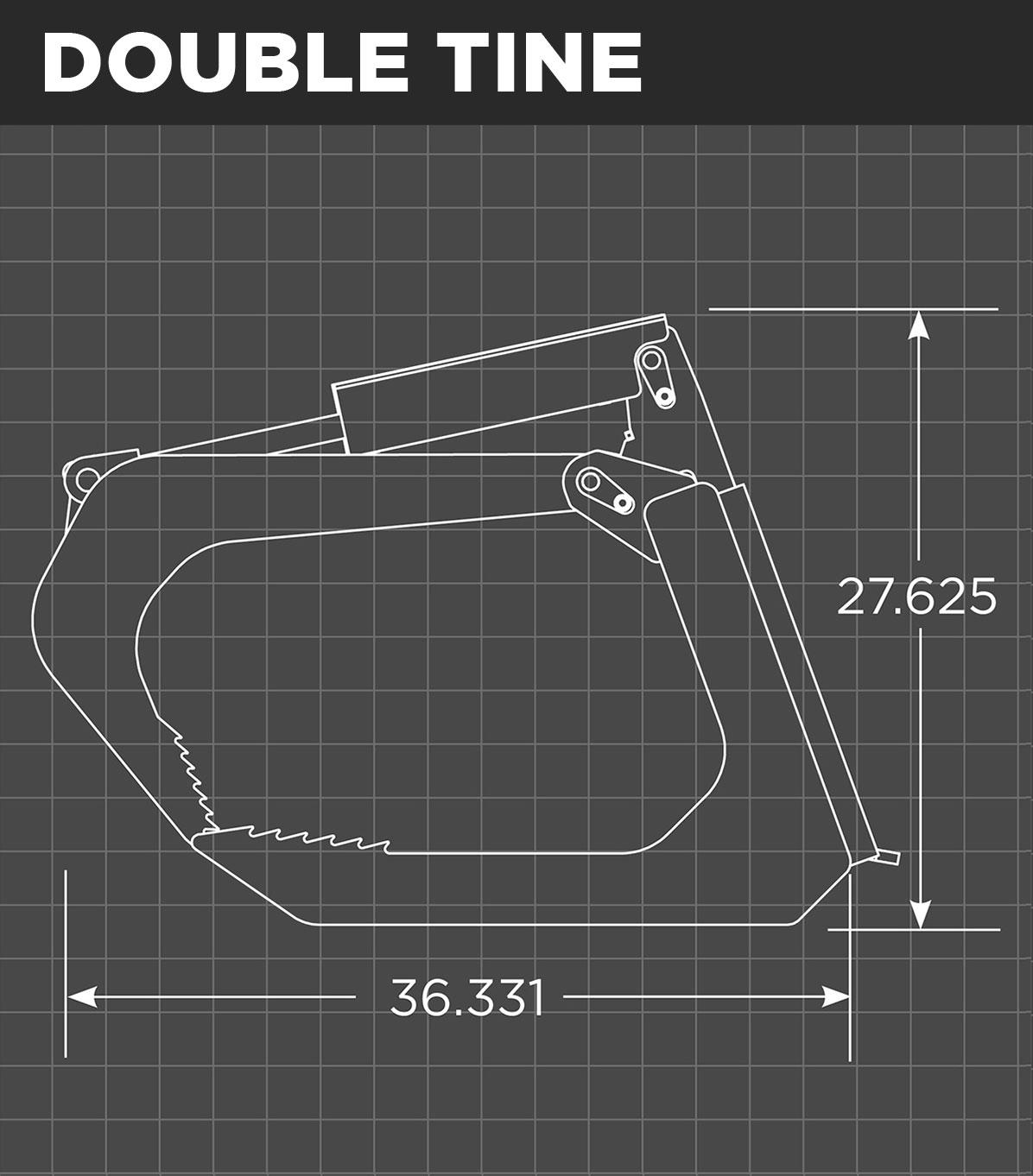 Mini Root Grapple Double Tine Schematic