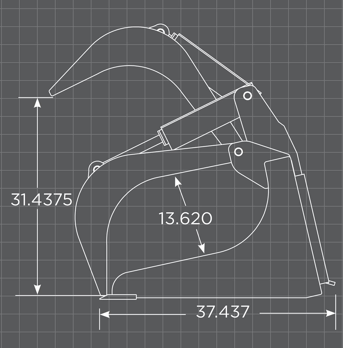 Grapple Bucket Schematic