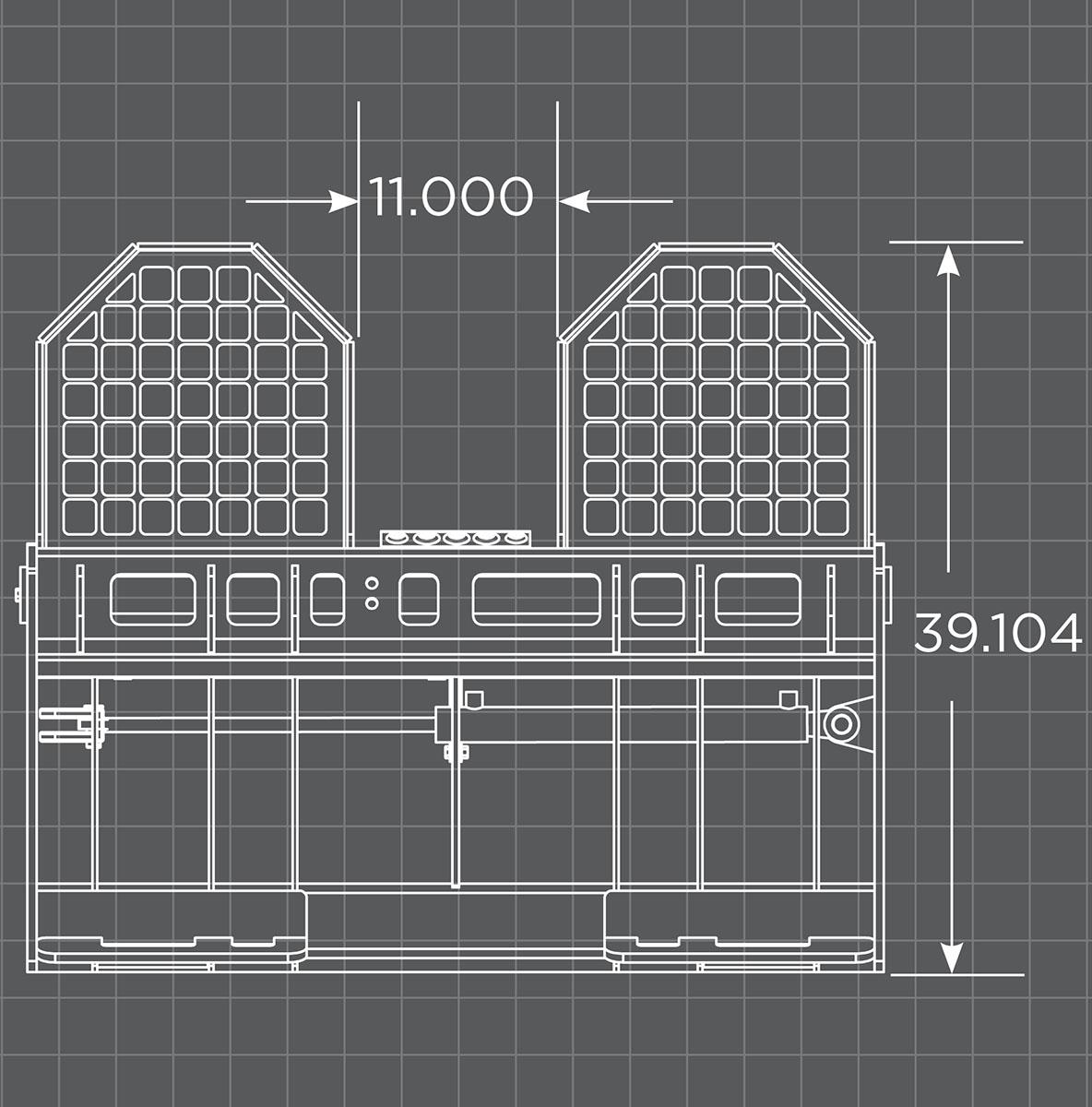 Hydraulic Fork Frame Schematic