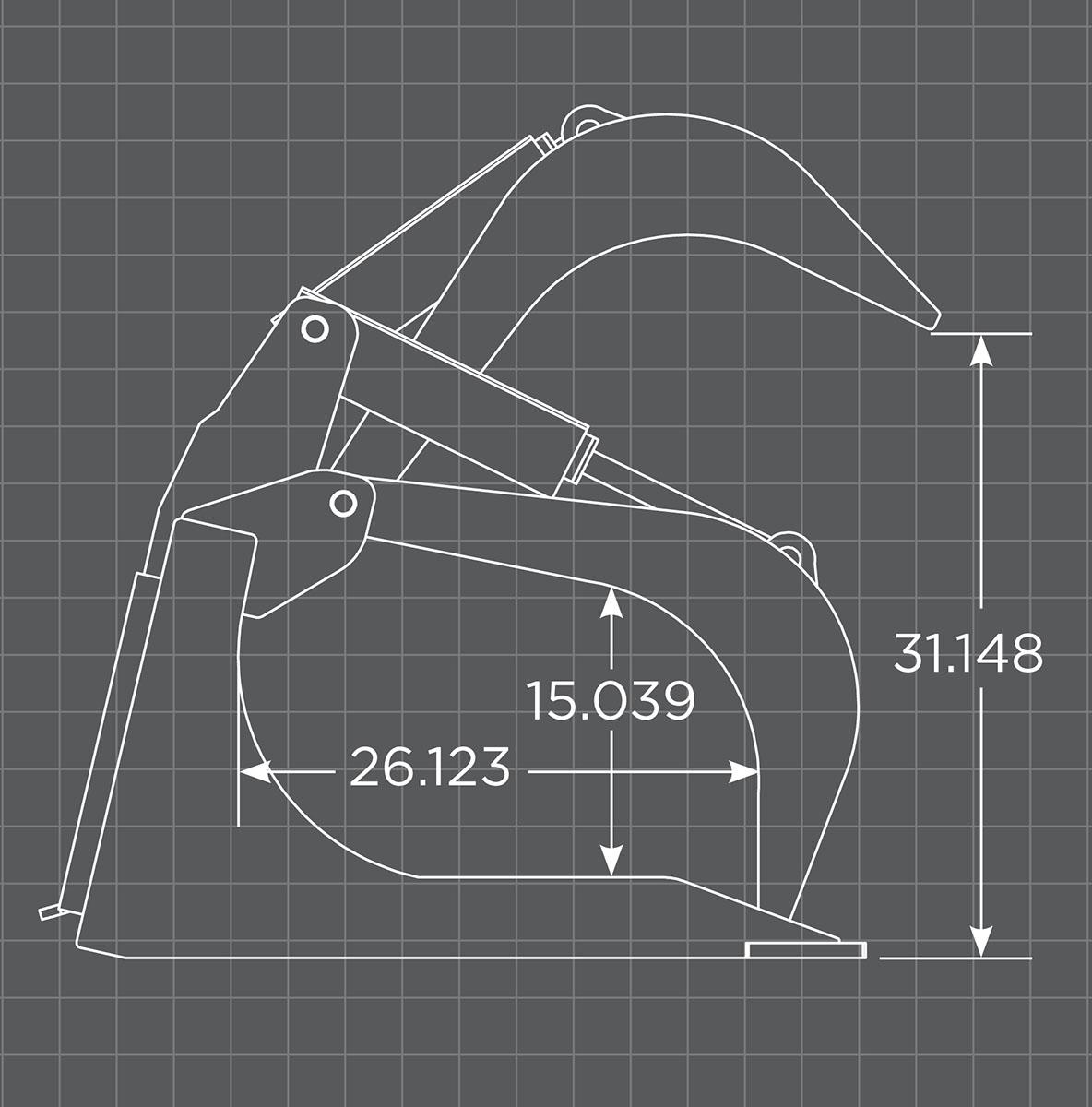XHD Grapple Bucket Schematic