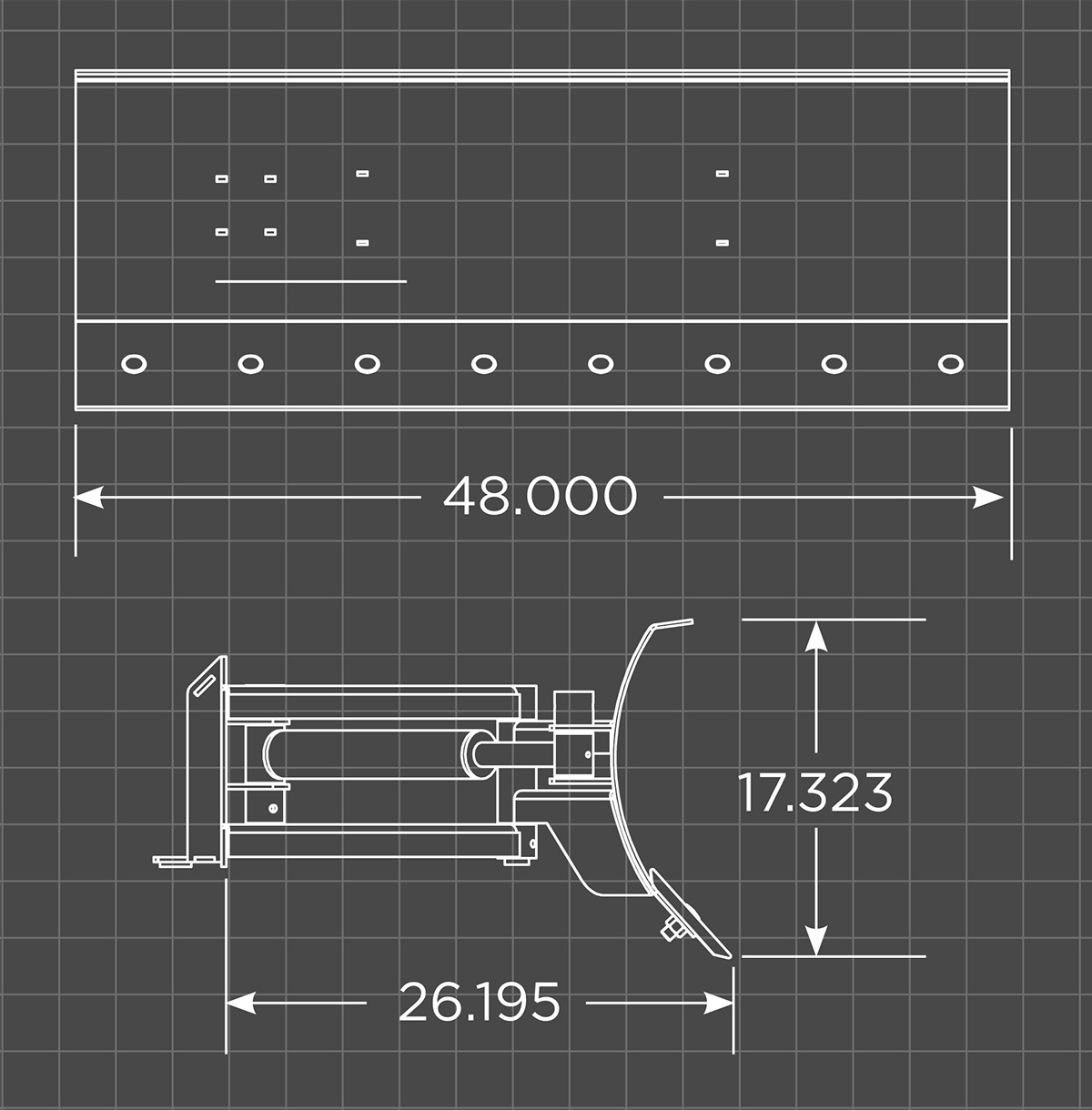 Mini Dozer Blade Schematic