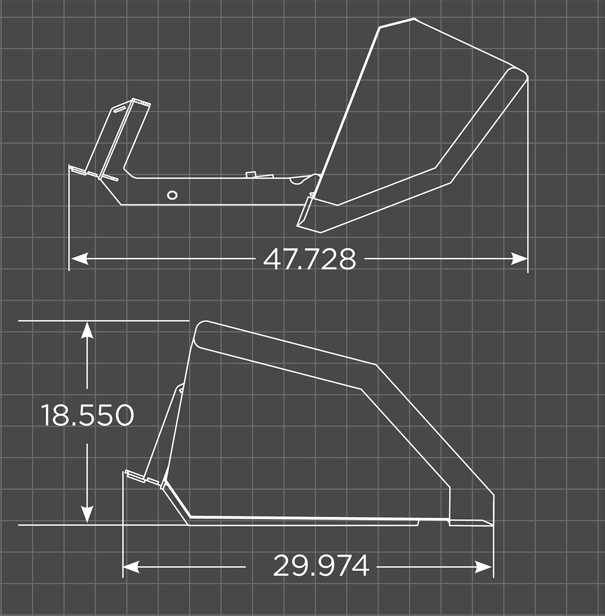 Mini Front Dump Bucket Schematic