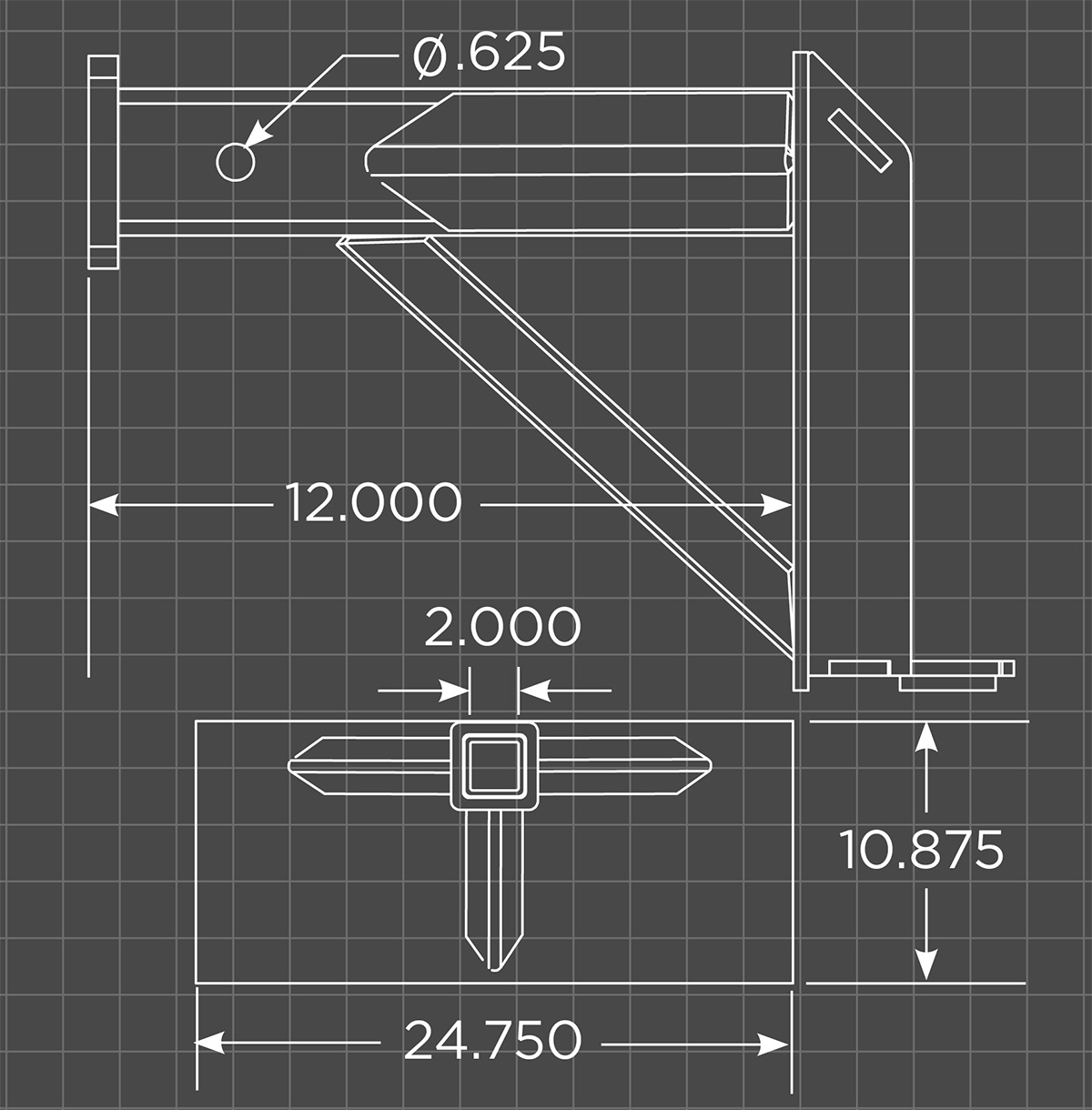Mini Reese Hitch Adapter Schematic